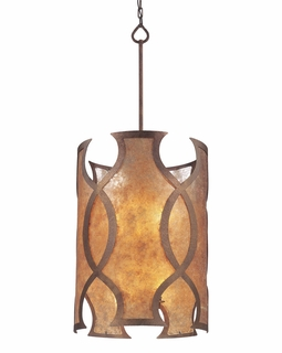 F2596 Troy Mandarin Medium Mandarin Copper 8 Light 4+4Lt Pendant Entry