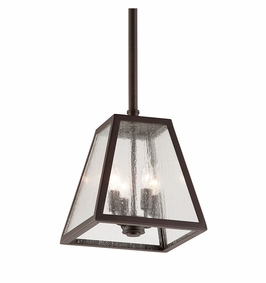 Troy Amherst Exterior 4Lt Hanging Lantern Candelabra with River Valley Rust Finish