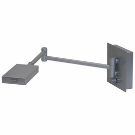 G575-PG House of Troy Generation swing arm LED wall lamp in platinum gray