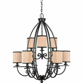 GRY5009SN Quoizel Grayson Serengeti (9) Light Chandelier