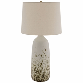 """GS101-DWG House of Troy 29"""" Scatchard Table Lamp in Decorated White"""