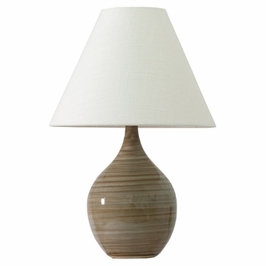 """GS200-TE House of Troy Scatchard 19"""" Stoneware Accent Lamp"""