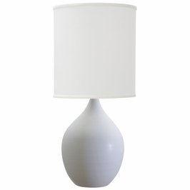 "GS201-WM House of Troy Scatchard 20.5"" Stoneware Table Lamp"