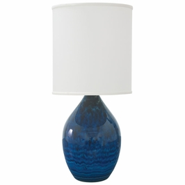 """GS301-MID House of Troy Scatchard 24"""" Stoneware Table Lamp"""