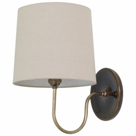 GS725-BR House of Troy Scatchard Wall Lamp in Brown Gloss with Antique Brass Accents