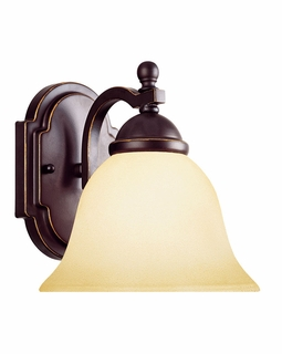GZ-9-2094-1-25 Savoy House Traditional Saville 1 Light Sconce with Slate Finish