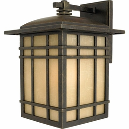 HC8409IBFL Quoizel Hillcrest Outdoor Fixture 120v CFL Self Ballasted (1) Light with Imperial Bronze Finish