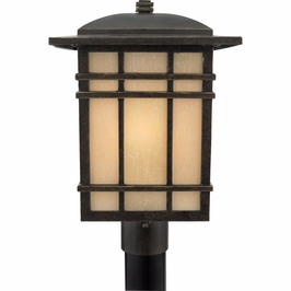 HC9011IBFL Quoizel Hillcrest Outdoor Fixture 120v CFL Self Ballasted (1) Light with Imperial Bronze Finish