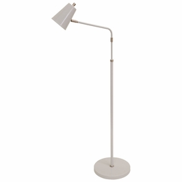 K100-GR House of Troy Kirby LED adjustable floor lamp in gray with satin nickel accents