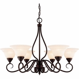 KP-104-6-13 Savoy House Mission Oxford 6 Light Chandelier in English Bronze