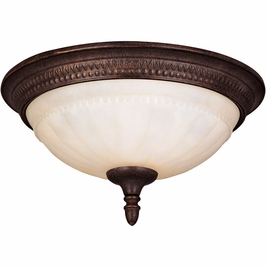 KP-6-506-13-40 Savoy House Mission Liberty Flush Mount in Walnut Patina