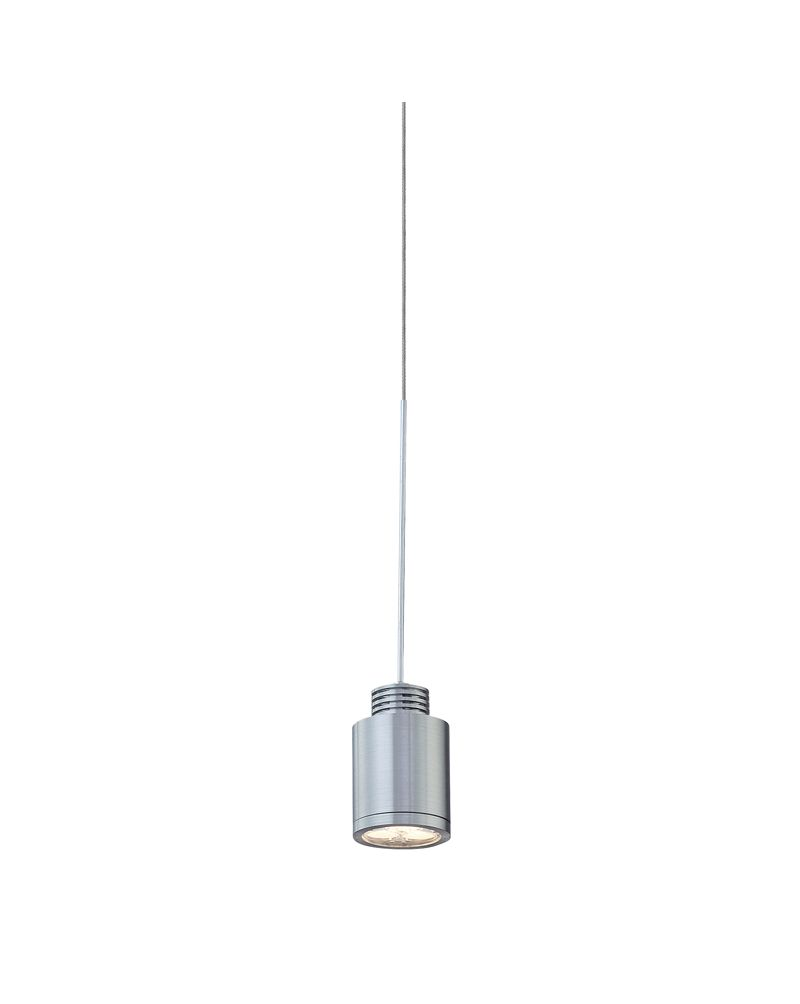 Lc9000 0 98 alico zen 1 light 1 2 watt pendant light fixture with brushed aluminum finish
