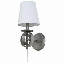 LS202-SP House of Troy Lake Shore Wall Sconce Satin Pewter