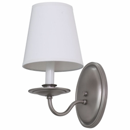 LS217-SP House of Troy Lake Shore Wall Sconce Satin Pewter
