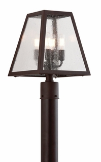 Troy Amherst Exterior 4Lt Post Lantern Candelabra with River Valley Rust Finish
