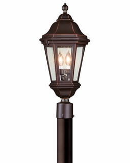Troy Verona Exterior 2Lt Post Lantern Candelabra with Antique Bronze Finish