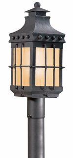 PF8972NB-D Troy Exterior Dover ES Natural Bronze Medium 1 Light Fluorescent Energy Star (with photocell) Dark Sky Post Lantern