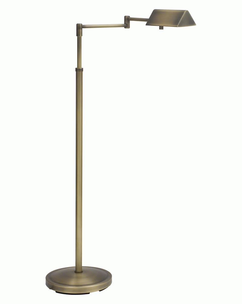 Pin400 ab house of troy antique brass floor lamp for Brass floor lamp made in usa