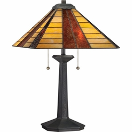 TF1256TVB Quoizel Tiffany Vintage Bronze (2) Light Table Lamp