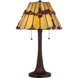 TF1268TRS Quoizel Tiffany Russet (2) Light Table Lamp