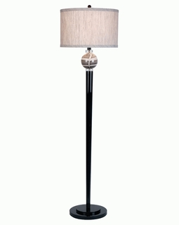"TF1278 Trend ""Titan"" Floor Lamp with Ebony Lacquer (DISCONTINUED PRODUCT)"