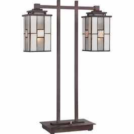 TF1564TWT Quoizel Finley Western Bronze (2) Light Table Lamp