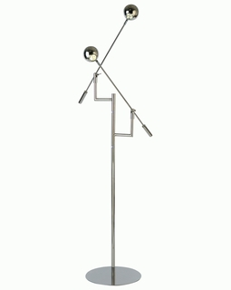 TF3640 Trend Panorama Task Floor Lamp with Polished Stainless Steel (DISCONTINUED PRODUCT)