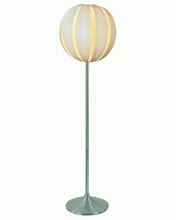 """TF3966-W Trend """"Pique"""" Floor Lamp with Metallic Silver (DISCONTINUED PRODUCT)"""