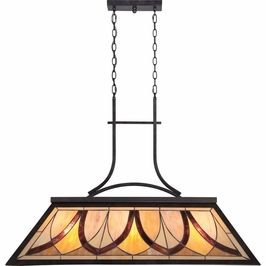 TFAS344VA Quoizel Asheville Island Light 120v G40 Medium Base (3) Light with Valiant Bronze Finish
