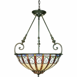 TFAV2823VB Quoizel Ava Pendant 120v A19 Medium Base (3) Light with Vintage Bronze Finish