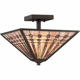 TFBK1714IO Quoizel Banks Indio Bronze (3) Light Semi-Flush Mount