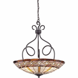 TFCW2824IB Quoizel Cross Weave Imperial Bronze (4) Light Pendant