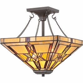 TFFT1714VB Quoizel Finton Vintage Bronze (2) Light Semi-Flush Mount