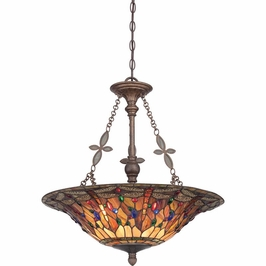 TFJD2822ML Quoizel Jewel Dragonfly Pendant 120v A19 Medium Base (4) Light with Malaga Finish
