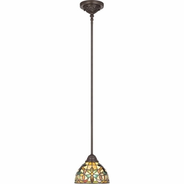 TFKM1508VB Quoizel Kami Mini Pendants 120v A19 Medium Base (1) Light with Vintage Bronze Finish