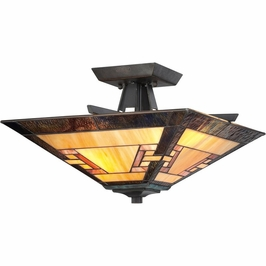 TFKY1715IB Quoizel Kennedy Imperial Bronze (2) Light Semi-Flush Mount