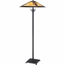 TFKY9357IB Quoizel Kennedy Imperial Bronze (2) Light Floor Lamp