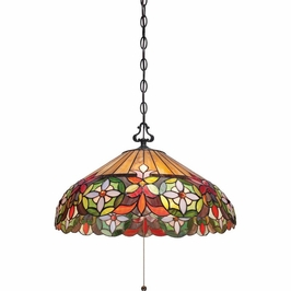 TFMH1820VB Quoizel Mariah Pendant 120v A19 Medium Base (3) Light with Vintage Bronze Finish