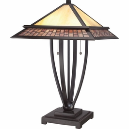 TFMN6324VB Quoizel Mason Lamp 120v A19 Medium Base (2) Light with Vintage Bronze Finish