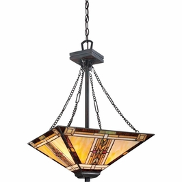 TFNO2817VA Quoizel Navajo Pendant 120v A19 Medium Base (3) Light with Valiant Bronze Finish