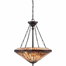 TFST2822VB Quoizel Stephen Pendant 120v A19 Medium Base (4) Light with Vintage Bronze Finish