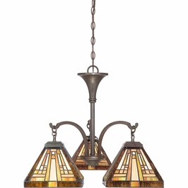 TFST5103VB Quoizel Stephen Chandelier 120v A19 Medium Base (3) Light with Vintage Bronze Finish