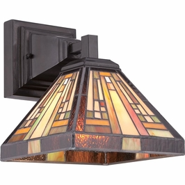 TFST8701VB Quoizel Stephen Wall Fixture 120v A19 Medium Base (1) Light with Vintage Bronze Finish