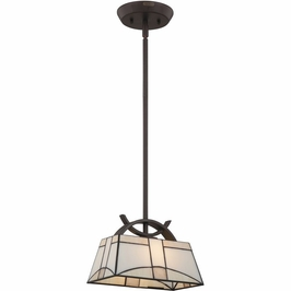 TFZA1510WT Quoizel Zachary Western Bronze (1) Light Mini Pendant