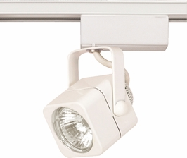 TH232 Nuvo Transitional White 1 Light MR16 12V Track Head Square