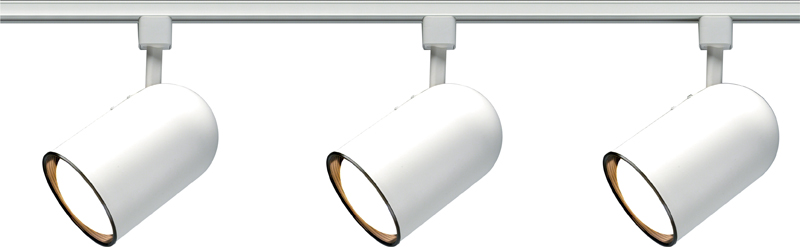 TK322 Nuvo Transitional White 3 Light R30 Bullet Cylinder