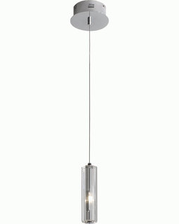 """A800026-1-R Trend """"Solo"""" Crystal Pendant with Polished Chrome (DISCONTINUED PRODUCT)"""