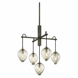 Troy Lighting Interior Industrial Brixton 5Lt Pendant Graphite