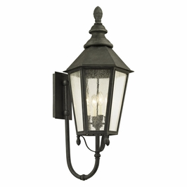 Troy Savannah Exterior 4Lt Wall Lantern E12 Candelabra Base with Vintage Iron Finish