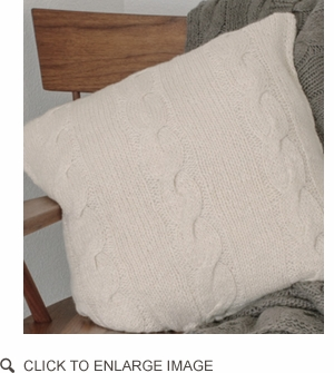 Pillow Cover - Yala&reg Baby Alpaca Tranquil Cable Knit